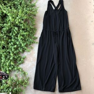Beyond Yoga Farrah Cropped Jumpsuit in Black